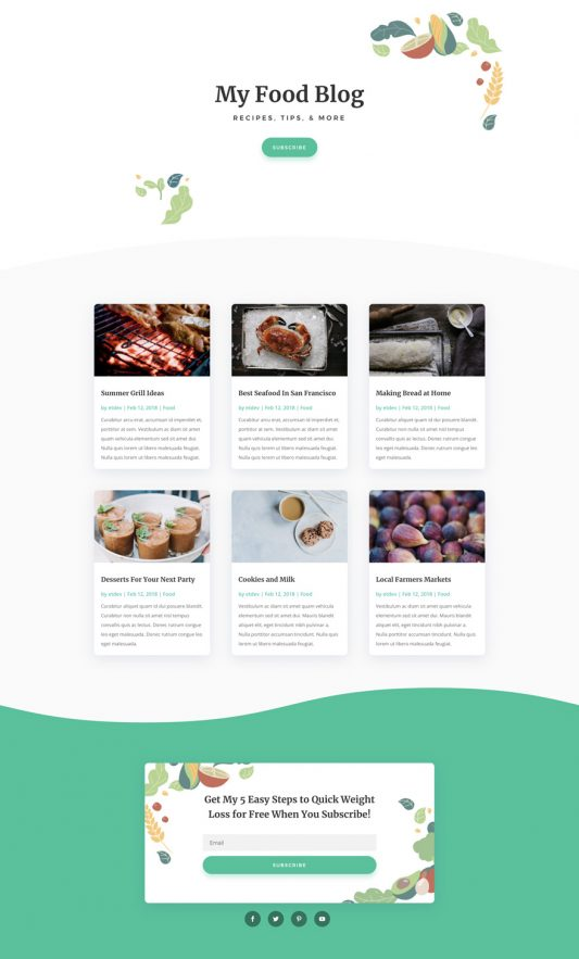 Nutritionist Web Design 2