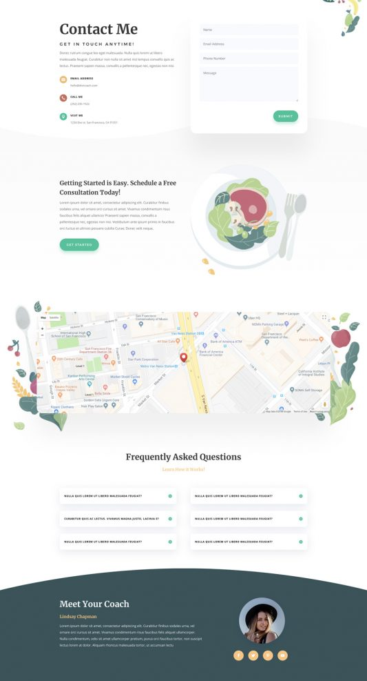 Nutritionist Web Design 3