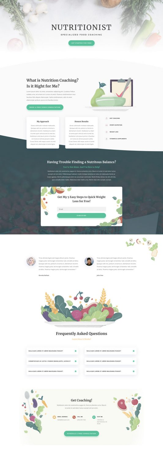 Nutritionist Web Design 4