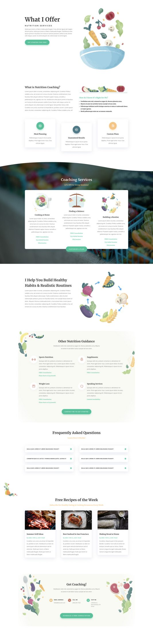 Nutritionist Web Design 6