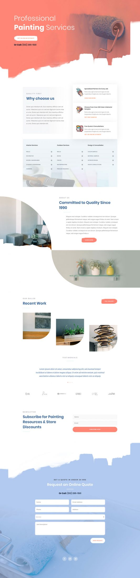 Painting Service Web Design 4