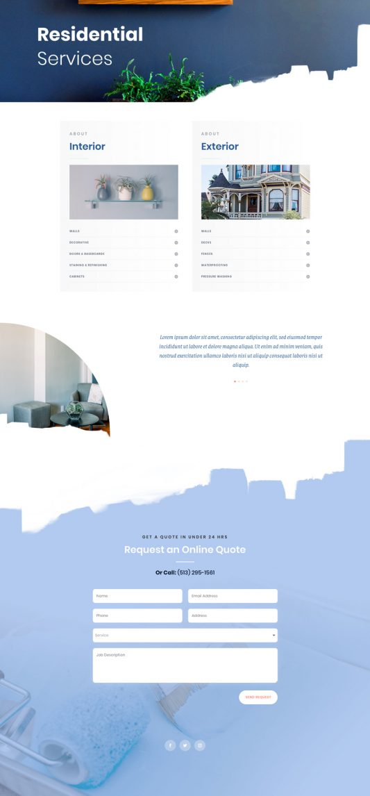 Painting Service Web Design 5