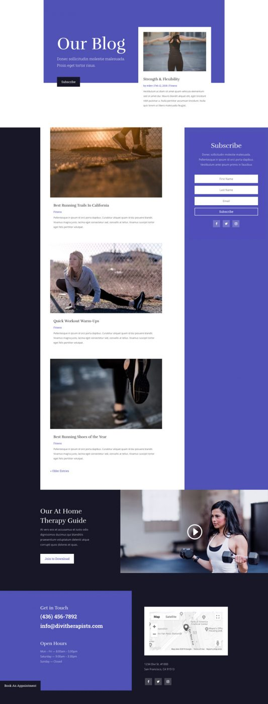 Physical Therapy Web Design 2