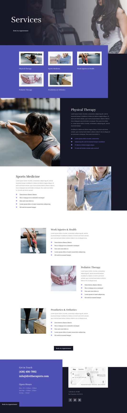 Physical Therapy Web Design 6