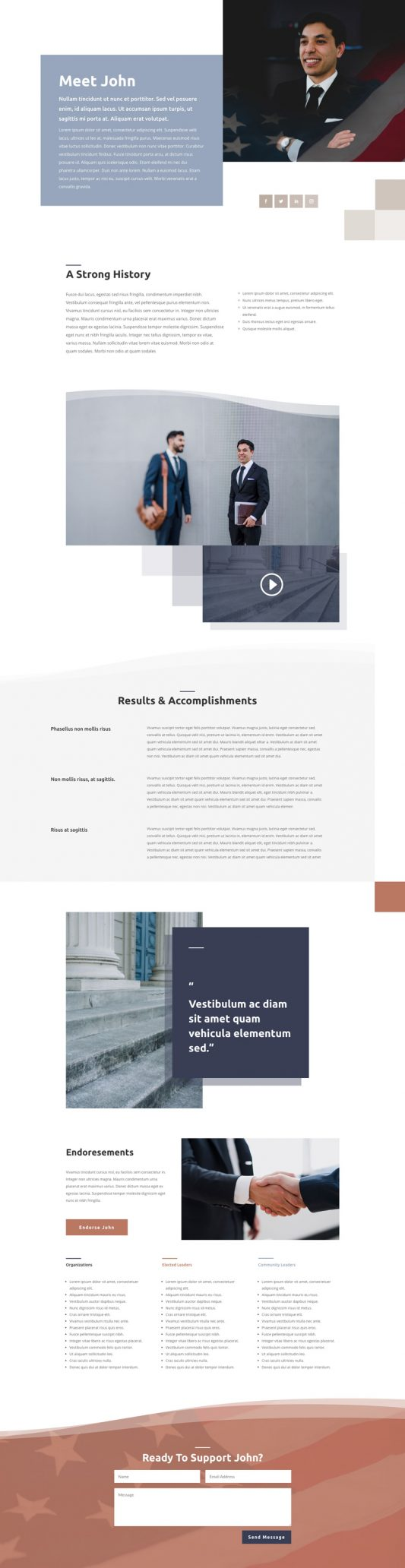 Political Candidate Web Design 1