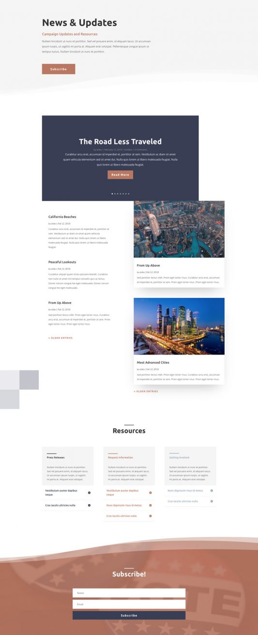 Political Candidate Web Design 2