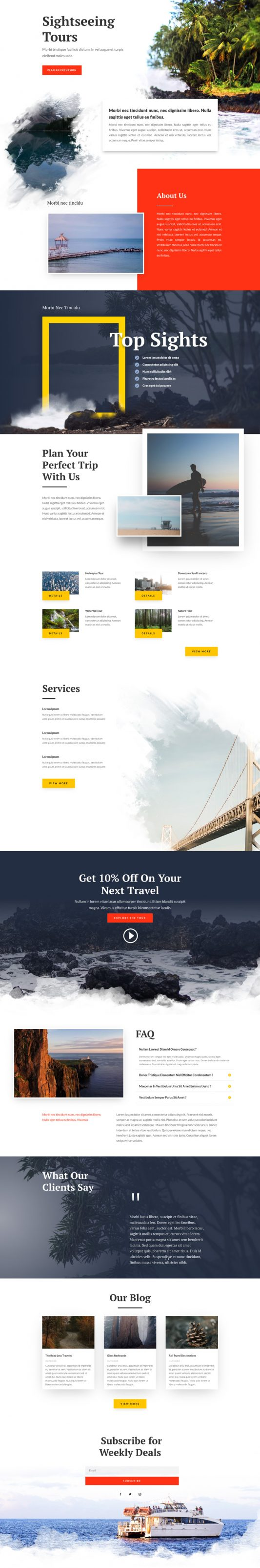 Sightseeing Web Design 6