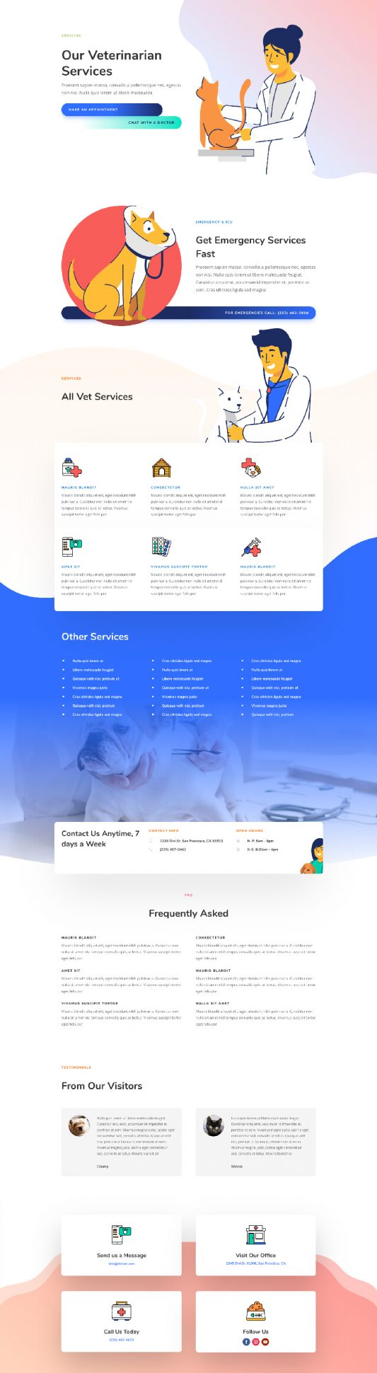 Veterinarian Services Page Style