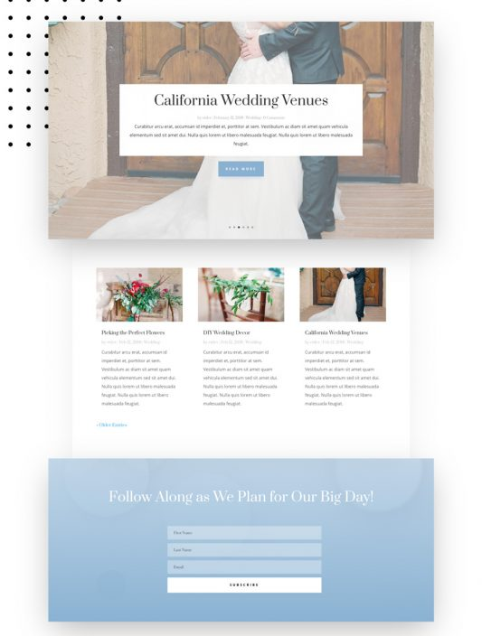 Wedding Engagement Web Design 2