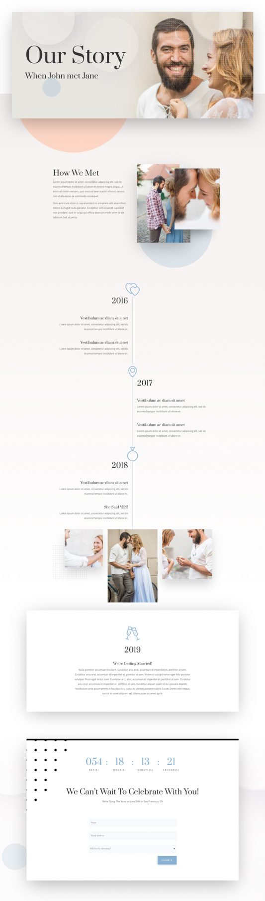 Wedding Engagement Web Design 8